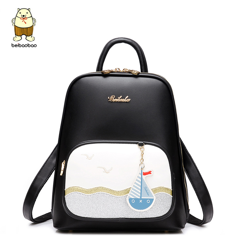 Beibaobao Preppy Backpacks Printing Cute Bookbag School Bags for Teenagers Girls Design Women Backpack High Quality Travel bag zhierna brand women bow backpacks pu leather backpack travel casual bags high quality girls school bag for teenagers