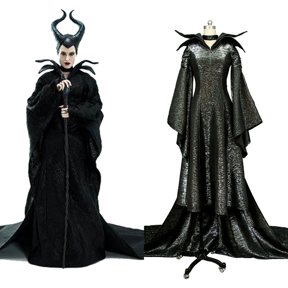 Us 85 5 10 Off Maleficent Evil Queen Cosplay Maleficent Angelina Jolie Cosplay Dress Costume Version B Full Set Halloween Carnival Costume In Movie