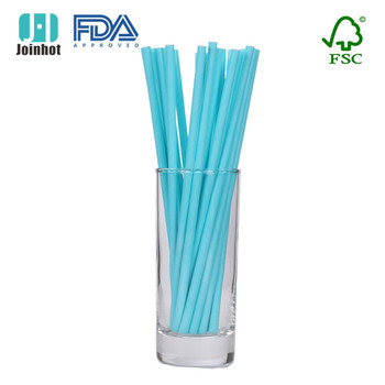 25pcs Solid Blue Paper Straws 25 Count biodegradable DRINKING Straws Straws SKY Blue Party Supplies for baby boy shower image