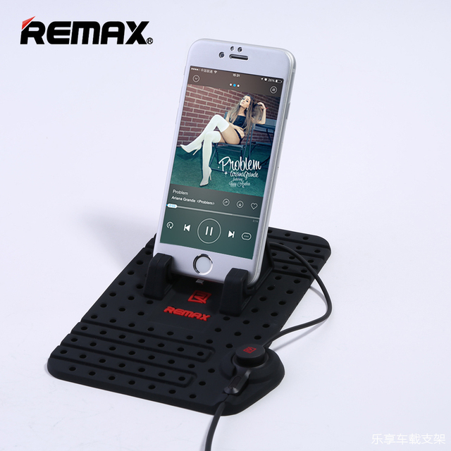 Remax Universal Mobile Phone Car Phone Holder For GPS iPad iPod iPhone Samsung XiaoMi Mi HuaWei Phone Car Holder Two Head Cable