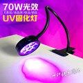 70 W 365nm wellenlänge uv härtung lampe watercooler UF LED kleber Clips tisch lampen grün öl lila maniküre licht für gel lack-in UV-GEL-Aushärungslampen aus Licht & Beleuchtung bei