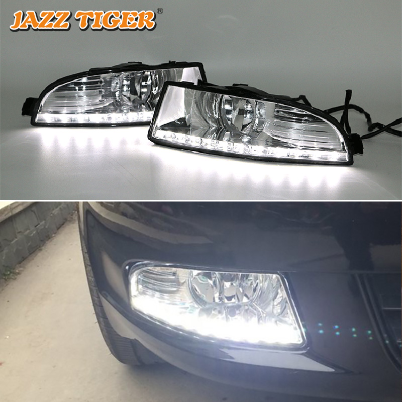JAZZ TIGER 2PCS Super Brightness Car DRL Lamp 12V Waterproof ABS LED Daytime Running Light For Skoda Superb 2010 2011 2012 2013