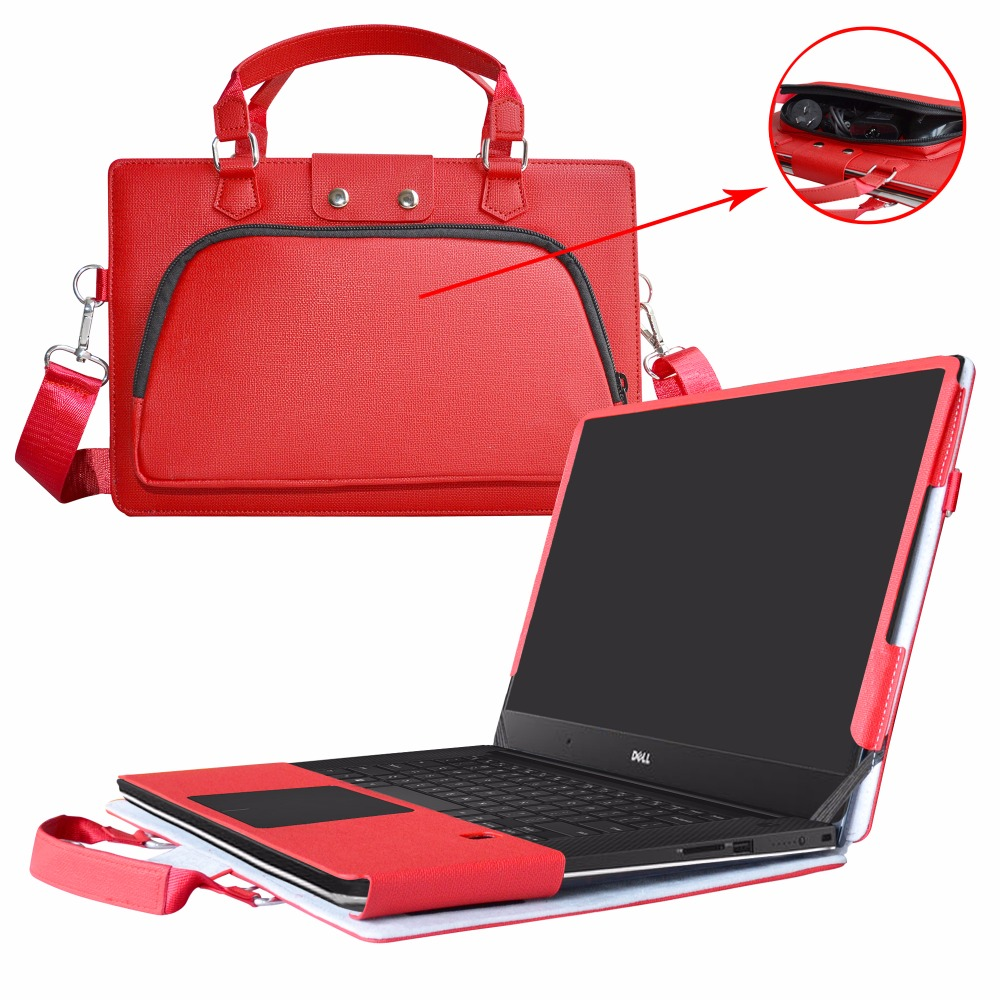 все цены на 2 in 1 Accurately Designed Protective PU Leather Cover + Portable Carrying Bag For Dell XPS 15 9560 9550 series Laptop онлайн