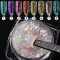 1 Caja de 0.2g Camaleón Copos de Polvo de Uñas Bling Del Brillo Nail Art Escarcha Polvo Del polvo del Polvo de Uñas Manchas de Colores Decoraciones