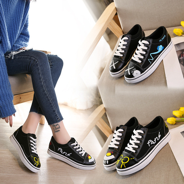 2018 New Pattern Ins Exceed Fire Real Woman Spring Canvas Shoe Joker Student Shoes. Restore Ancient Ways Port ShoesALEX