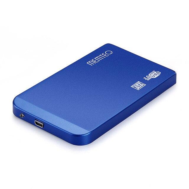 """MEMTEQ USB 3.0 HDD Case 2.5"""" SATA HDD Enclosure Hard Drive Disk Case Box Enclosure External 2000G Aluminum Alloy Blue"""