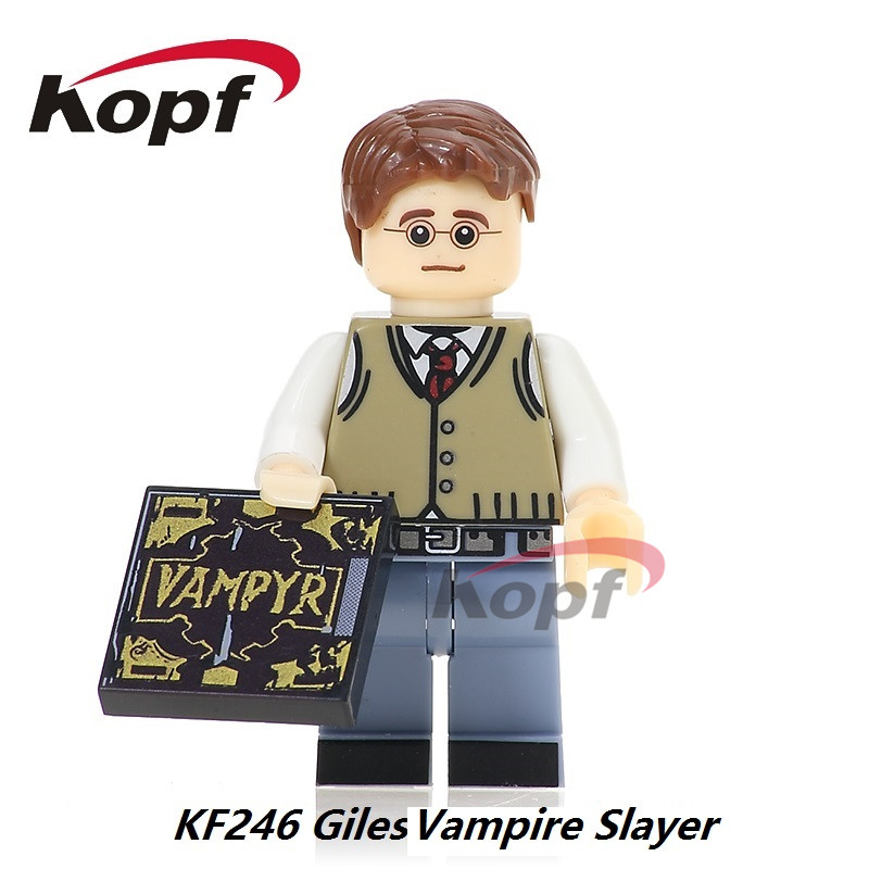 Single Sale Super Heroes Giles Xander Cordelia Buffy the Vampire Slayer Series Building Blocks Eductaion Toys for children KF246 building blocks super heroes back to the future doc brown and marty mcfly with skateboard wolverine toys for children gift kf197