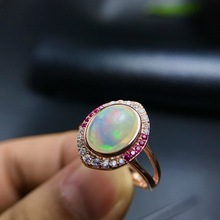 [MeiBaPJ New Fashion Natural Opal Gemstone Ring for Women Re