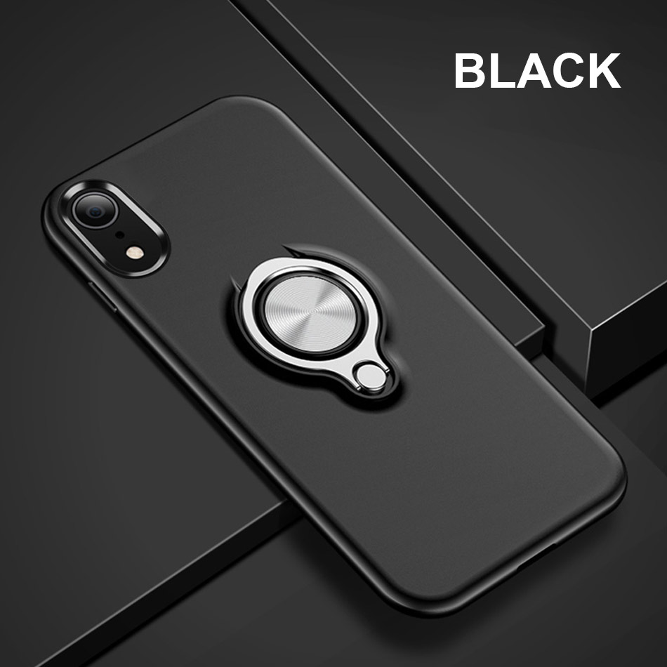 Luxury Car Holder Ring Case For IPhone X XR XS Max 6 6s 8 7 Phone Case Cover On The For IPhone 6 6s 7 8 Plus X XS Max Case Cover