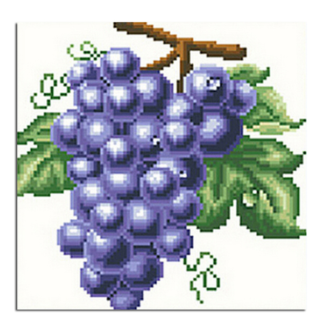 US $4 45 20% OFF|Grapes 20x20cm New 100% Full Area Highlight Diamond  Needlework Diy Diamond Painting Kit 3D Diamond Cross Stitch Embroidery-in  Diamond