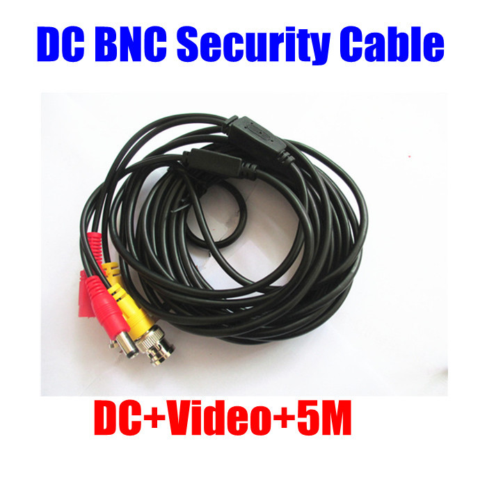 16ft 5m cctv security ccd camera video power BNC DC extension Cable for CCTV DVR System