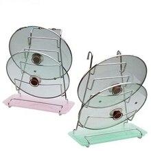 цена на 304 stainless steel lid rack storage rack belt water tray wall shelf kitchen