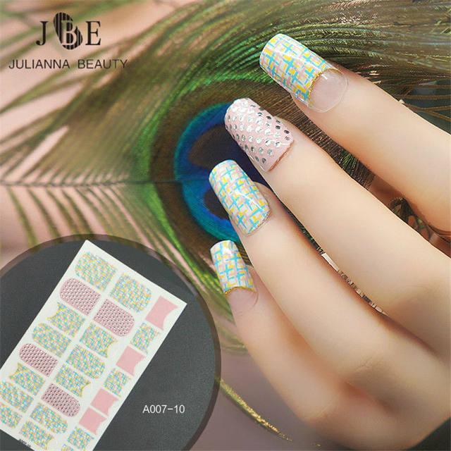 Online Shop Jeweled Nails Art Sticker Elegant Design Nail Sticker 3d