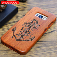 BROEYOUE For Samsung Galaxy Note 3 4 5 8 100 Nature Wood Case For Samsung Galaxy