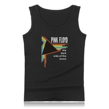 Pink floyd Tank Tops summer time model o-neck informal sleeveless T-shirts Hot Sale hip hop rap males's T-shirts Pink floyd