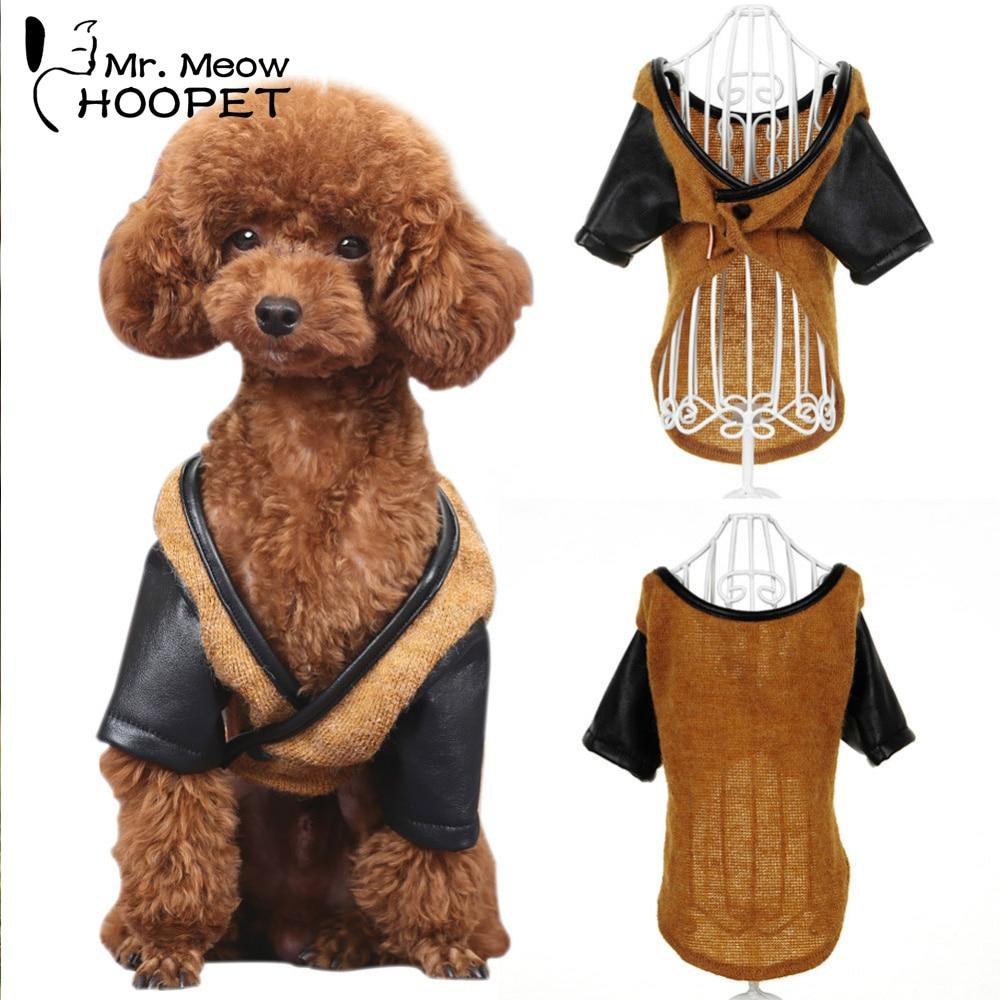 Mode Hund Katze Kleidung Braun Schwarz Nähen Sweatshirt Strickwaren ...