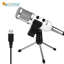 Fifine USB Micro chuẩn Cắm Micro Điện Dung Cho Máy Tính/Máy Tính Podcast 1 Dòng Họp Tự StudioRecording (K056)