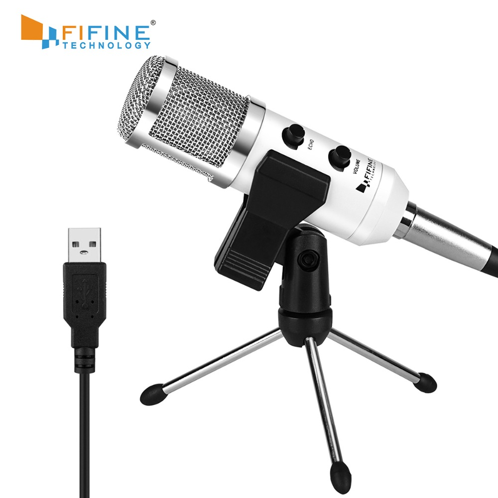 Fifine USB Microphone, Plug & Play Condenser Microphone For PC/Computer Podcasting One Line Meeting Self StudioRecording (K056)