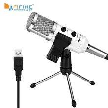 Fifine USB 마이크, 플러그 앤 플레이 PC/컴퓨터 용 콘덴서 마이크 Podcasting one line meeting self studioRecording (K056)