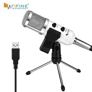 Image 1 - USB микрофон Fifine, конденсаторный микрофон «подключи и работай» для ПК/компьютера