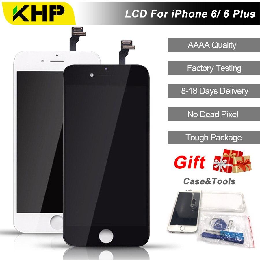 KHP AAAA 2018 100% Original Tela LCD Para o iphone 6 Plus tela de LCD Substituição LCDS de Tela IPS Display Touch Qualidade 6 Plus