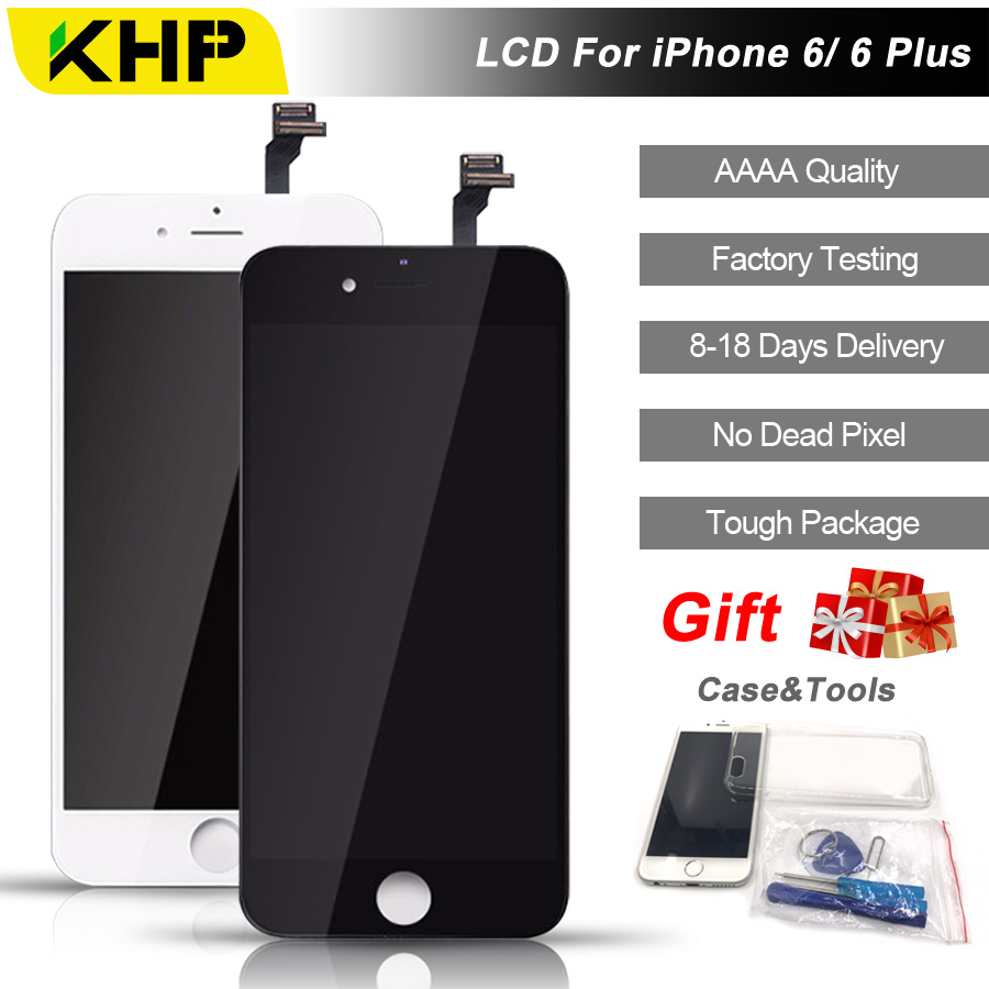 2018 100% Original KHP AAAA Screen LCD For iPhone 6 Plus Screen LCD Replacement Screen IPS Display Touch Quality 6 Plus LCDS