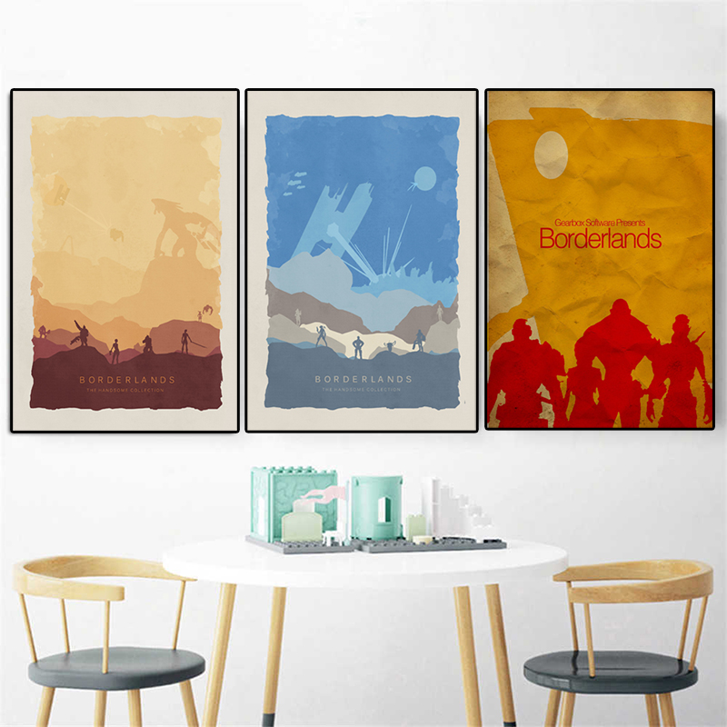 Borderlands 2 Vintage Poster Video Games Paintings on Canvas Modern Art Decorative Wall Pictures for Living Room Home Decoration image