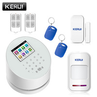 KERUI W2 English Russian Chinese App IOS Android GSM WiFi Home Burglar Security Alarm System With