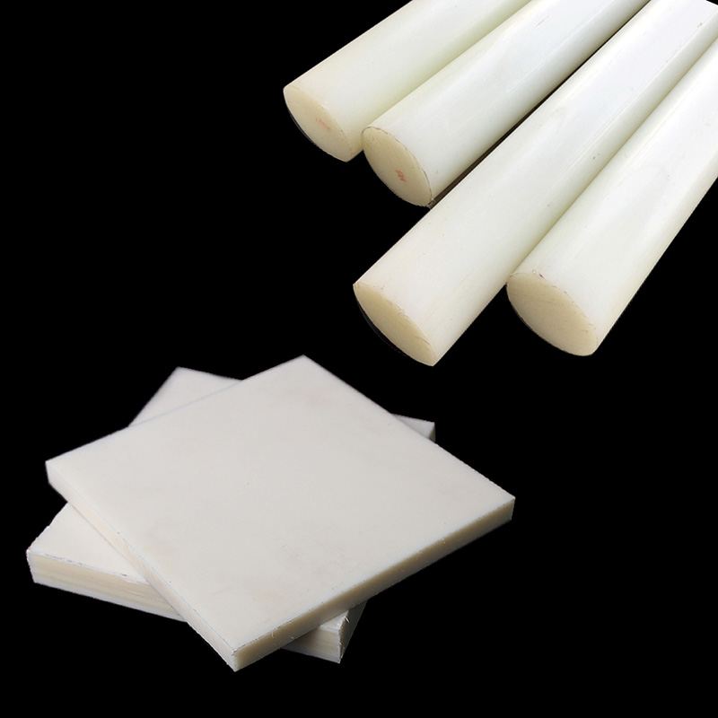 PA nylon plastic rods 6mm to 80mm round bar natural white extruded solid LEP engineering cast square nylon sheet