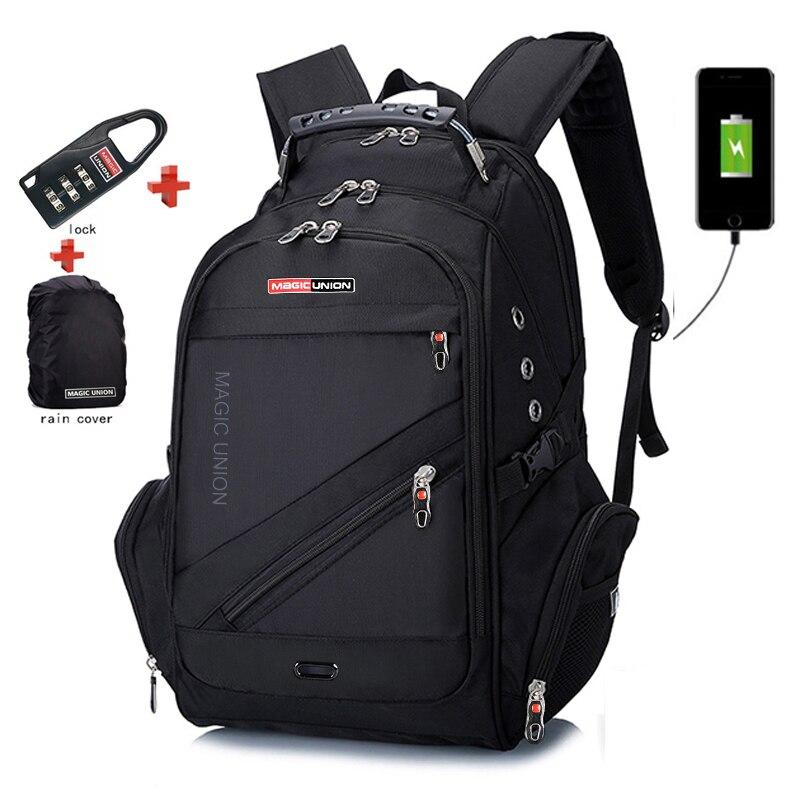 Bags Boy Computer-Backpacks Waterproof Anti-Theft Laptop-Bag Usb-Charge External Men