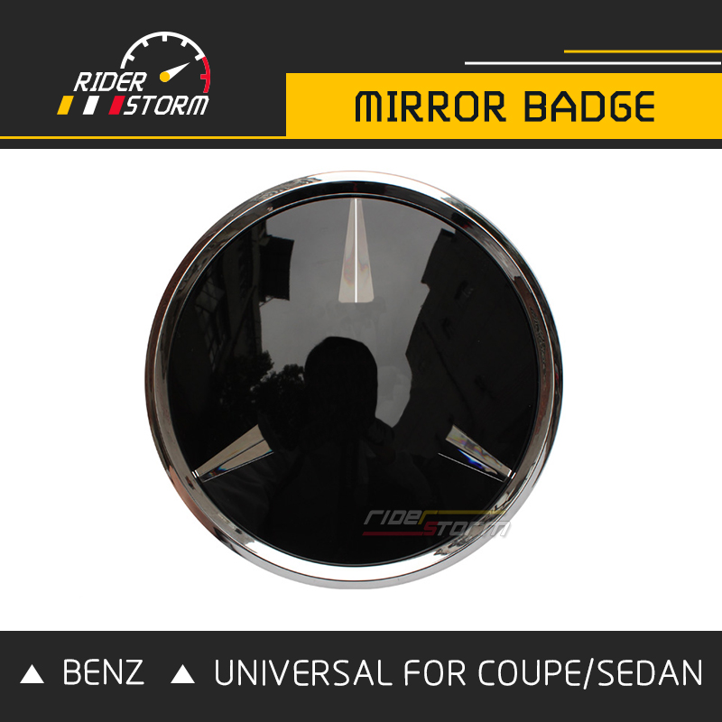 Universal Grill Emblem Badge Mirror Logo For Mercedes Coupe Sedan A B C CLA GLA E S Class SUV GLE GLC GLS Replacement with type window visor vent shades sun rain guard deflector for mercedes benz gle coupe c292 2015 2016