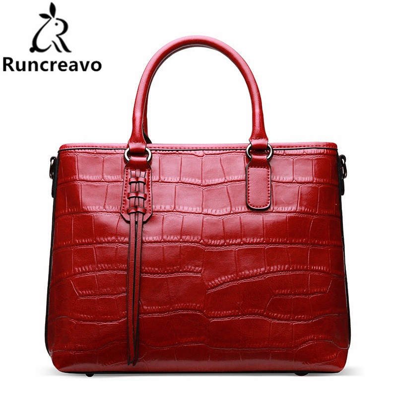 05ed30ec4b5b 2018 Crocodile pattern genuiner leather female handbags shoulder bag  messenger bag tote bag bolsa feminina luxury