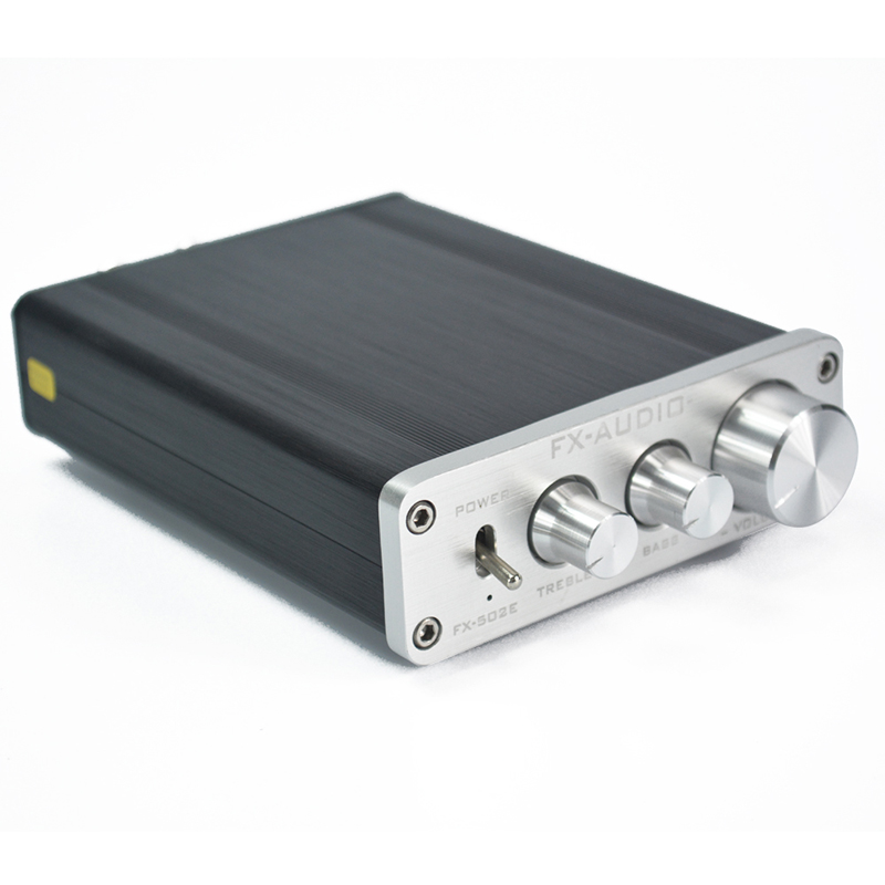 ФОТО FX-AUDIO FX502E 2 x 68W HIFI 2.0 Pure Digital Audio Amplifier AMP LM1036 Tone TDA7498L High Power Amplifier AMP Black/Silver