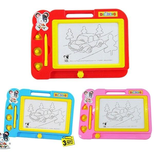 plastic magnetic drawing board sketch sketcher pad doodle writing toy for kids children multi. Black Bedroom Furniture Sets. Home Design Ideas