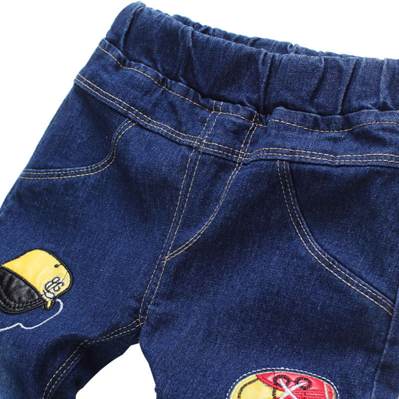 New Patch Boys Jeans Pants Spring Autumn Print Kids Jeans Trousers 2017 Baby Jeans With Embroidery Ripped Denim Trousers Baby (8)