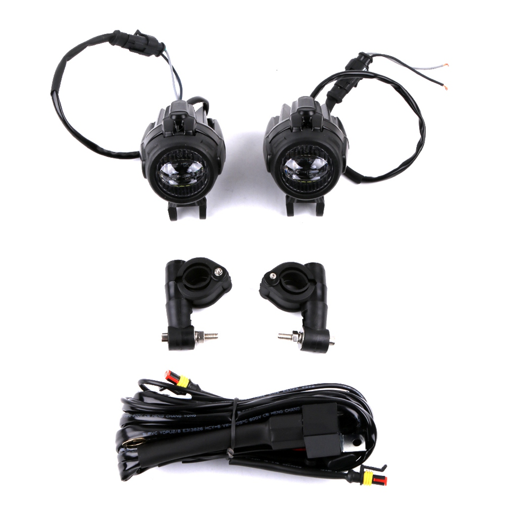 Universal 40W Motorcycle Headlight LED Auxiliary Fog Light Assemblie Driving Lamp For BMW R1200GS/ADV/F800GS
