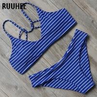 RUUHEE Bikini Swimwear Women Swimsuit 2017 Halter Bathing Suit Brand Beachwear Push Up Maillot De Bain