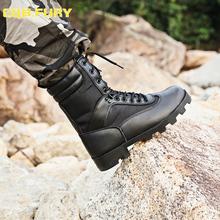 Cqb FURY czarne męskie buty taktyczne skórzane lato wodoodporne buty wojskowe walki oddychające kostki armii Boot z zipper38-46 tanie tanio Dorosłych Płótnie Niska (1cm-3cm) Gumowe Zamek Skóra dzielona Buty motocyklowe Okrągły palec Wiosna jesień Pasuje do rozmiaru Weź swój normalny rozmiar