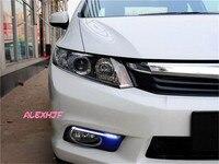 Июля King свет руководство Габаритные огни ДРЛ противотуманных фар чехол для Honda Civic 9th 2012 ~ 14 1:1, бесплатная доставка