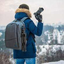 PULUZ 5011# Outdoor Portable Waterproof Scratch-proof Dual Shoulders Backpack Camera Bag