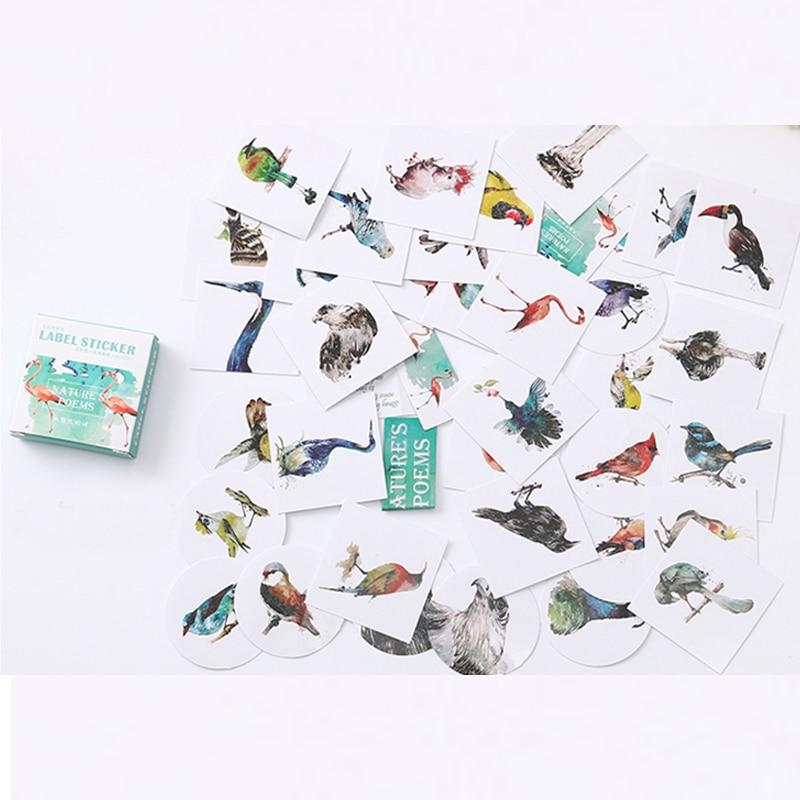 Cute Cartoon Birds Memo Pattern Decoracion Diary Christmas Stickers Scrapbooking Stationery Sticker Student Supplies