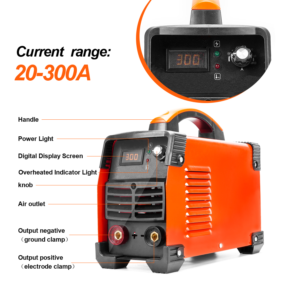 POSENPRO Inverter Arc Welder 250A/300A Welding Machine ABS Handle IGBT IP21S DC Inverter Welder High Efficiency Electric Welder