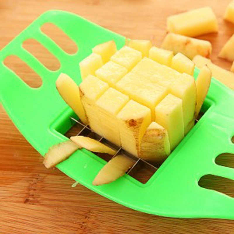 Stainless Steel Potato Cutting Device Cut Fries Potatoes Cut Manual Potato Cutter Kitchen Tools Vegetable Fruit Slicer