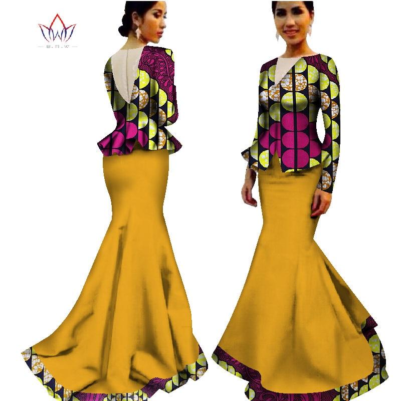 lantai-panjang bazin tradisional pakaian afrika pakaian musim panas - Pakaian kebangsaan - Foto 6