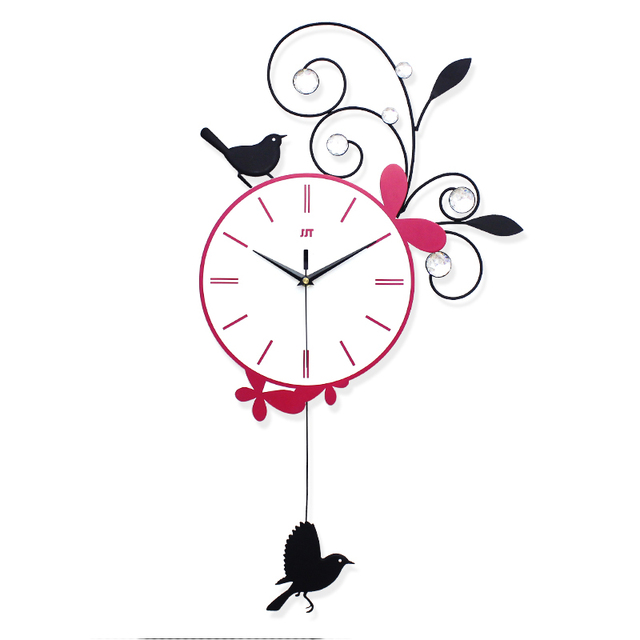 pendule de cuisine murale horloge murale de salon en bois. Black Bedroom Furniture Sets. Home Design Ideas
