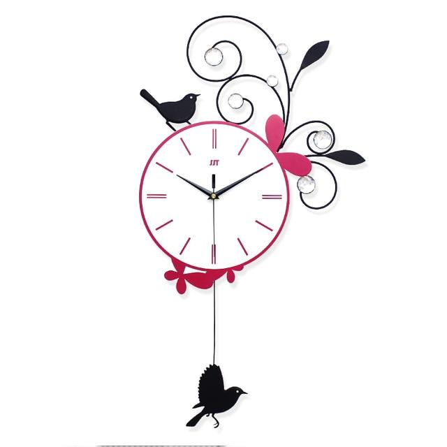 wanduhr kuche nette reizende pendule murale dekorative ka 1 4 che vogel kinder moderne uhr fa r wand amazon