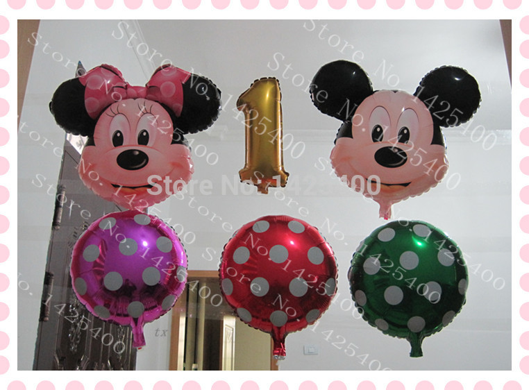 Free shipping 6pcs / lot aluminum balloons toys for children 1 year old birthday