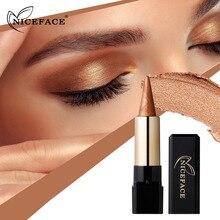 NICEFACE Metal Nude Eyeshadow Palette Diamond Glitter Eye Shadow Stick Shimmer