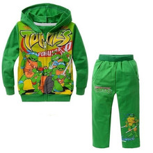 2016 New Autumn Kids Boys Clothes Fashion Cartoon Teenage Mutant Ninja Turtles Children Casual Clothing 2 Piece Sets Long Sleeve