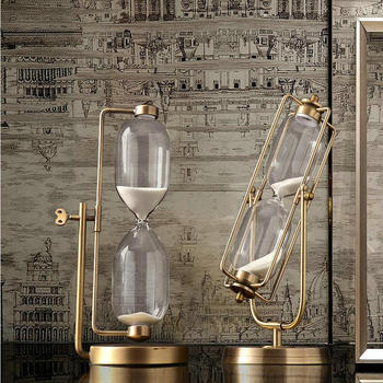 HQ Modern Type Metal Fixed/Swivel Sand Glass Sand Timer Clock Hourglass Arts And Crafts Study Bedroom Office Tableware